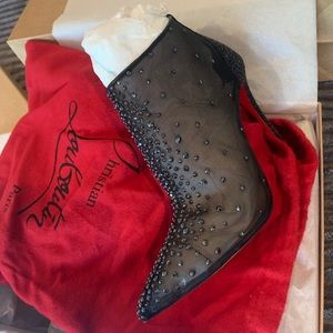 Christian Louboutin Constella Crystal Boots
